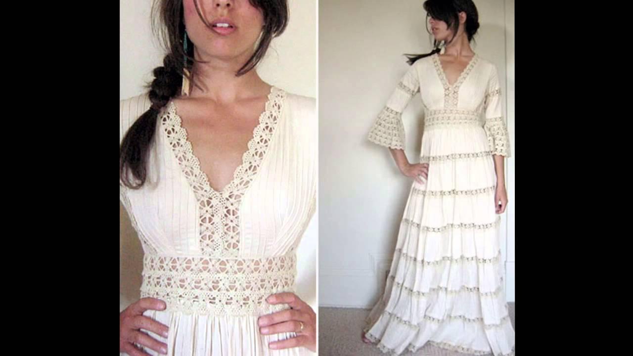 Dorable Patrones Del Vestido De Boda De Crochet Libre Modelo - Manta ...