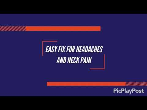 Easy Fix for Headaches and Neck Pain