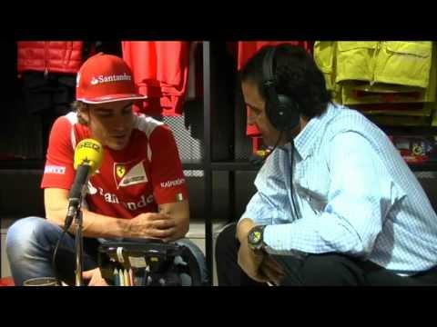 Fernando Alonso se confiesa en 'El Larguero'. Cadena SER