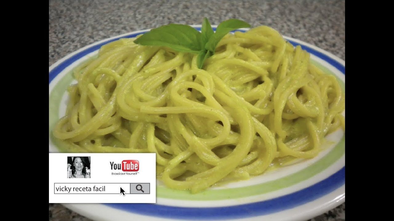 Espagueti Verde Vicky Receta Facil