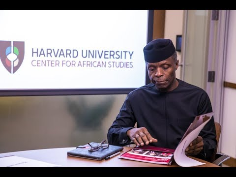 Prof. Yemi Osinbajo  Delivers 'Africa Rising' Lecture at Har