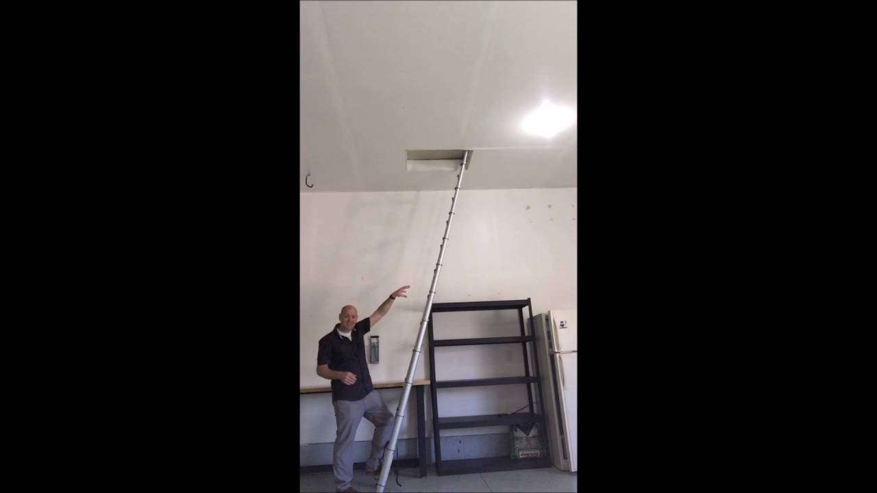Using Your Ladder to Open the Attic Scuttle & Using Your Ladder to Open the Attic Scuttle - YouTube