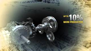 cat d6n dozer   lock up clutch animation