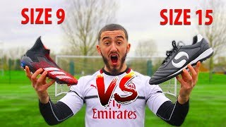 I Bought The World's LARGEST FOOTBALL BOOTS EVER & Played In A Match!