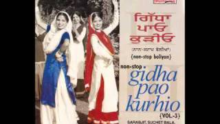 GIDHA PAO KURHIO 3 | Part 2 | Non-Stop Punjabi Bolian | Marriage Songs