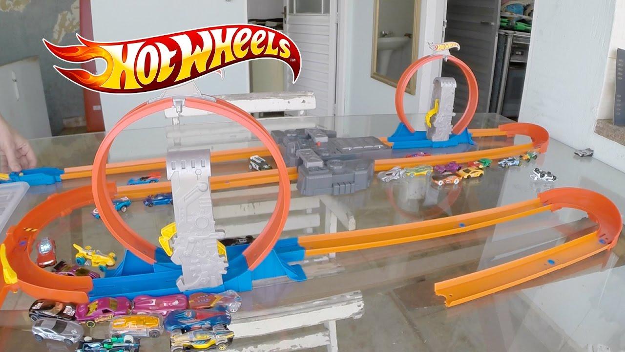 hot wheels pista track builder takeover looping carrinho. Black Bedroom Furniture Sets. Home Design Ideas