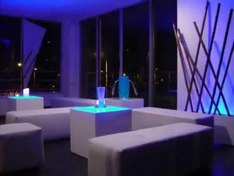 Alquiler de muebles tipo lounge para fiestas youtube - Visillos para salones ...