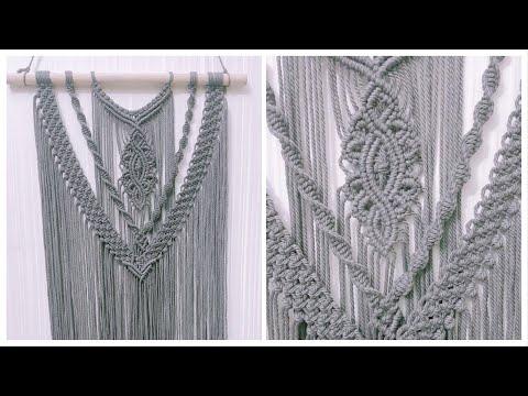 diy-macrame-wall-hanging-for-beginners,-free-macrame-pattern-by-tnartncrafts