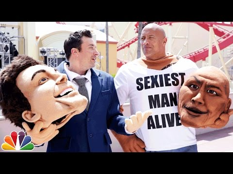 Mascot Photobomb with Dwayne Johnson