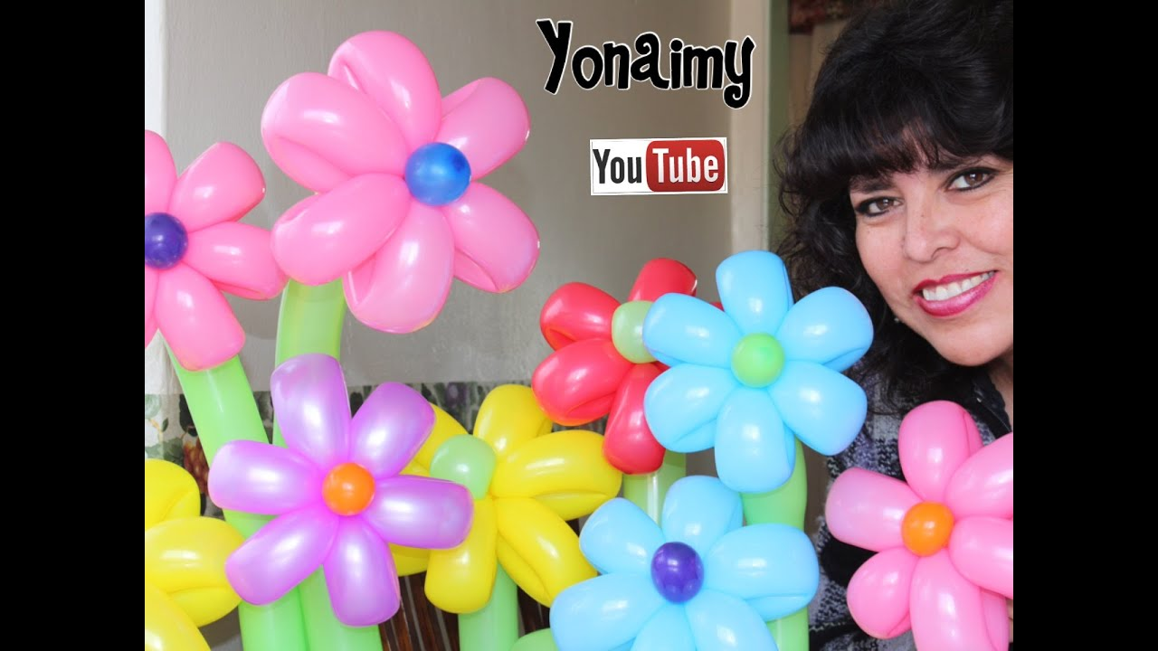 3 Maneras O Tecnicas De Hacer Flores De 6 Petalos Con Globos Youtube - Como-hacer-flores-de-globos