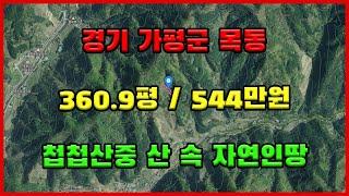 경매물건 : 경기도 가평군 북면 목동리 / 지목 :전 …