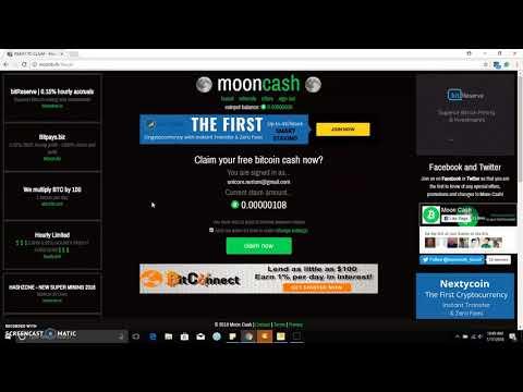 Earn Free Bitcoin Cash  With Moon Bitcoin Cash 100% Legit Faucet Site / Gagnez Bitcoin Cash