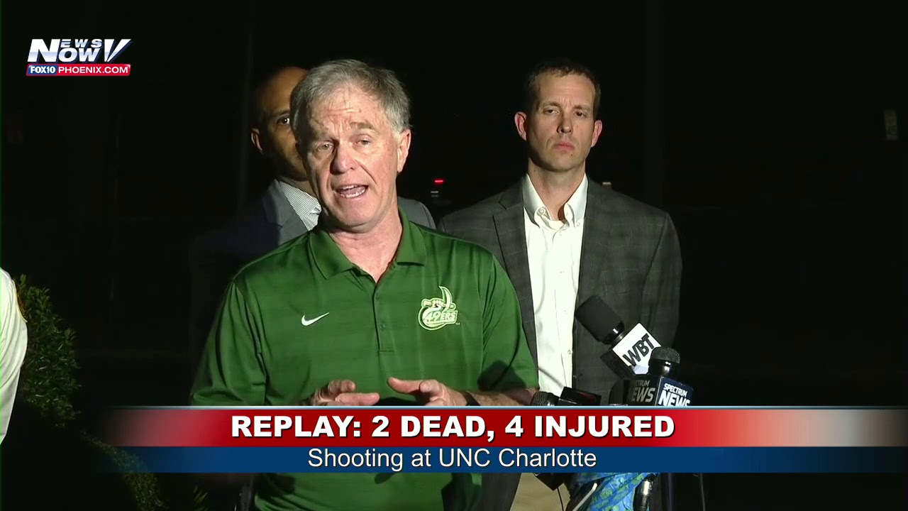 UNC CHARLOTTE LATEST: Shooting kills 2, injures 4 at college campus