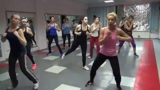 Тренировка Тай-бо. Боевая аэробика. Tae-bo fitness.