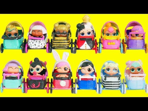 LOL Surprise Fake Strollers Matching Game with Playmobil Jail | Toy Egg Videos thumbnail