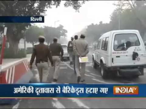 Delhi Police remove barricades from outside US embassy