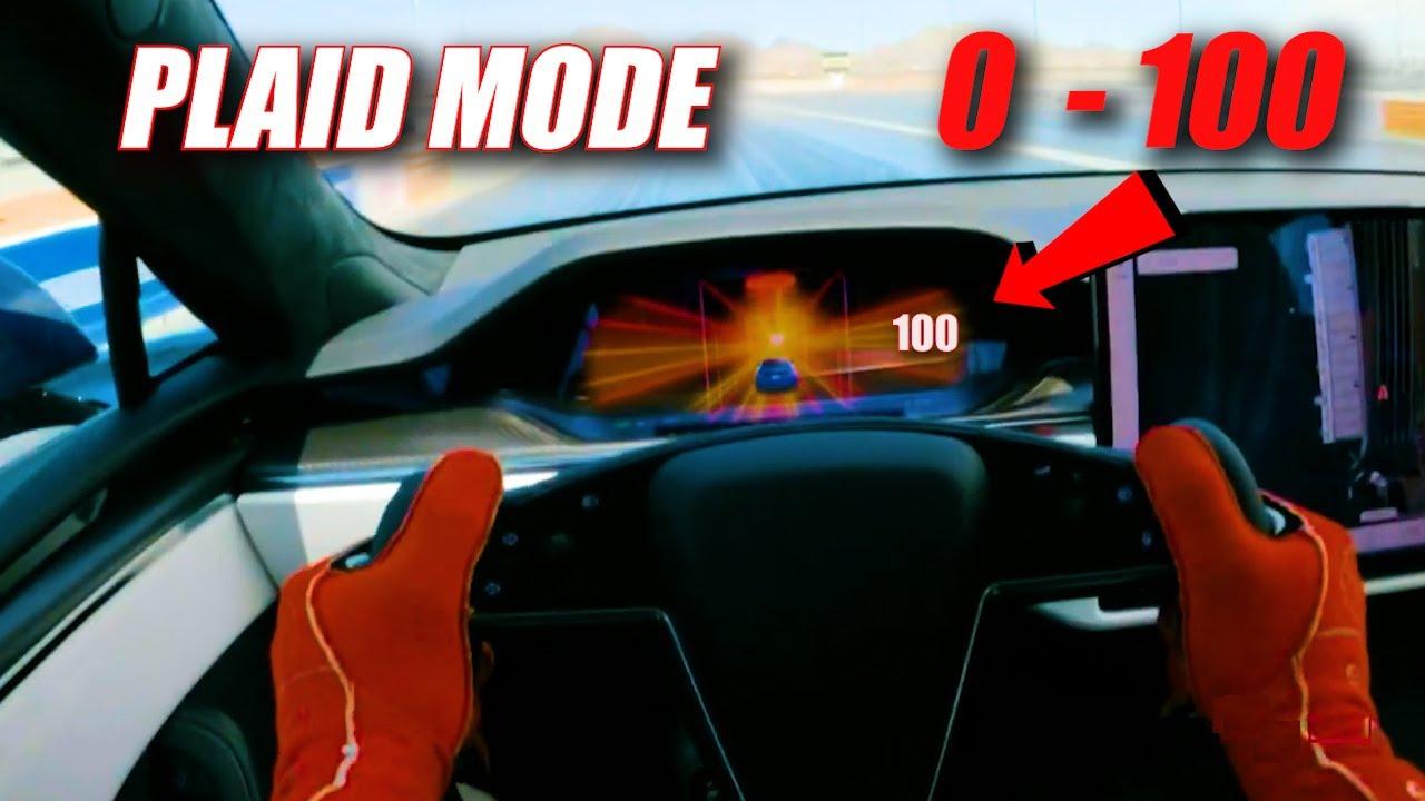 Tesla Plaid 0 to 100mph Acceleration!