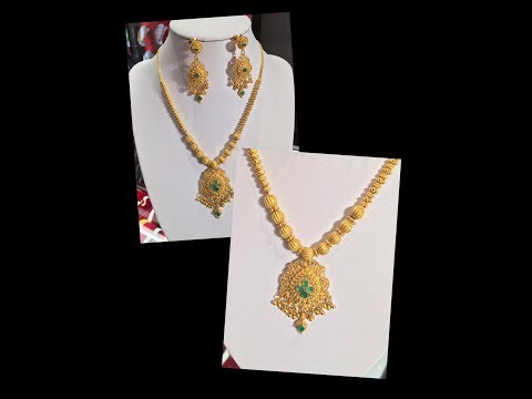 Latest Light Weight New Models Gold Short Necklace Designs
