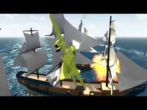 BeamNG drive Plane Crashes#4 Air Attack on Pirate Ship