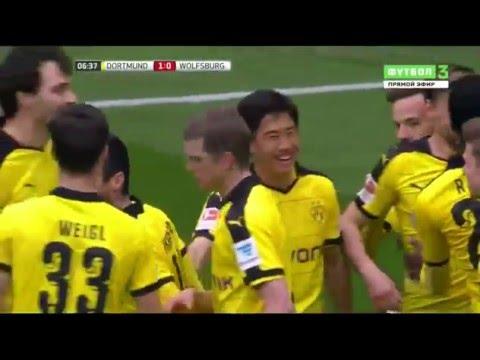 Боруссия Д 5-1  Вольфсбург. Обзор матча