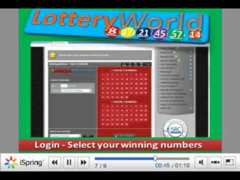 How to play online lottery - LotteryWorldOnline.com