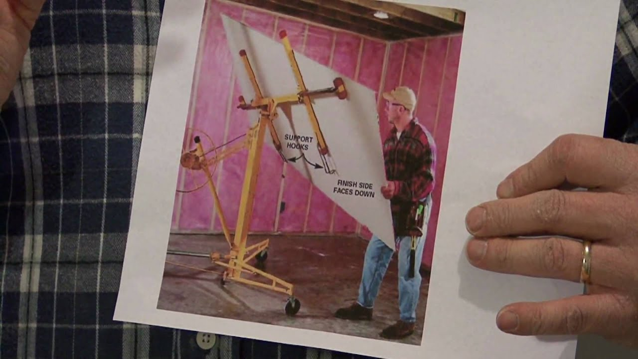 How to hang drywall on a ceiling - How To Hang Drywall On A Ceiling 1
