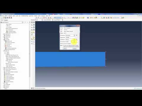 Abaqus Tutorial - Trave rastremata soggetta a flessione (Tapered beam in bending) - UNITN