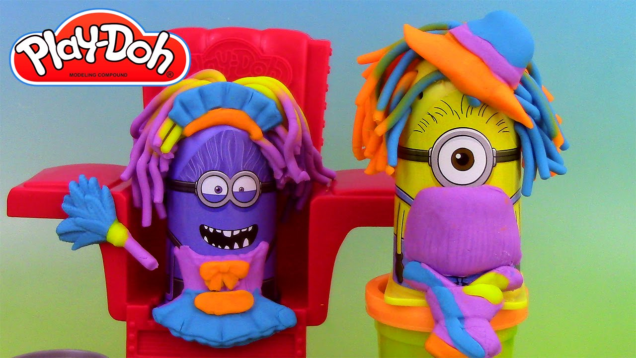 p 226 te 224 modeler le coiffeur minions disguise lab play doh labo transformation