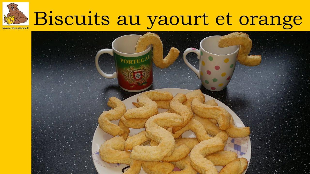 Biscuits au yaourt et orange (recette rapide et facile ...