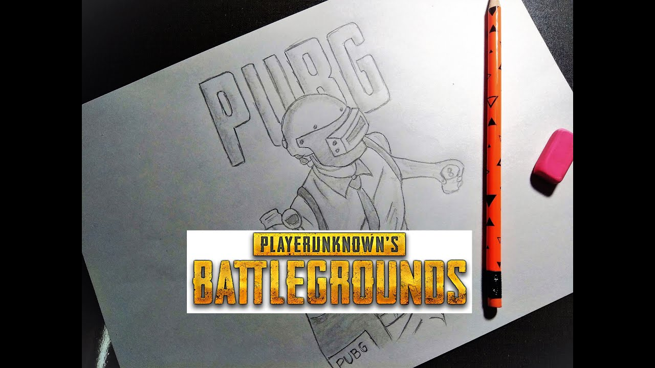 7 8 MB] How to Draw PUBG Character in 10 MIn | STEP by STEP