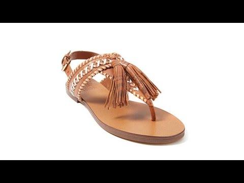 4788b24e2eb5 Vince Camuto Rebeka Leather Tassel Thong Sandal - YouTube