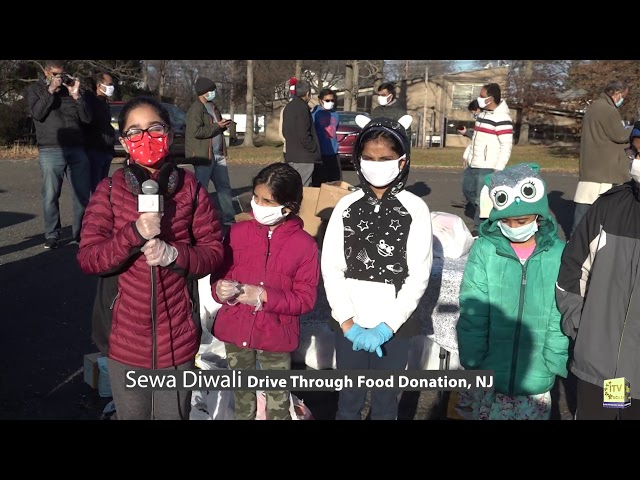 Sewa Diwali Hosts Drive-Thru Food Donation Benefitting Food Pantries - New Jersey