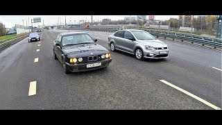 Polo Gt (  Stage 1 ) Vs Bmw E34 525 Сток !