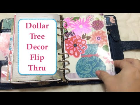Decorated Planner Flip Through Using Dollar Tree Items | DIY Dividers & Dashboard