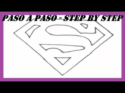 Como dibujar el Escudo de Superman l How to draw Superman Shield l Dibujos l Drawings