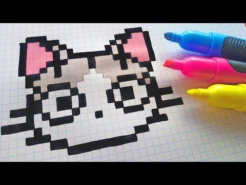 Pixel Art De Chat Kawaii