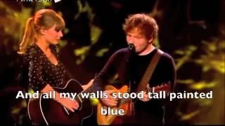 Taylor Swift & Ed Sheeran - Everything Has Changed  Live + Lyrics