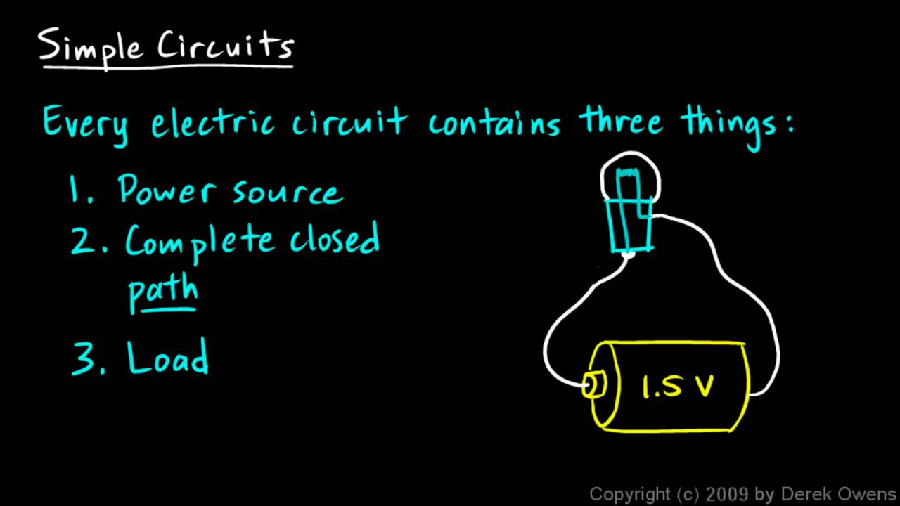 Physics 12 5 1a - Simple Circuits