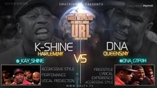 SMACK / URLTV PRESENTS DNA VS K-SHINE [FULL BATTLE] | URLTV