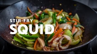 Fast and spicy SQUID STIR-FRY