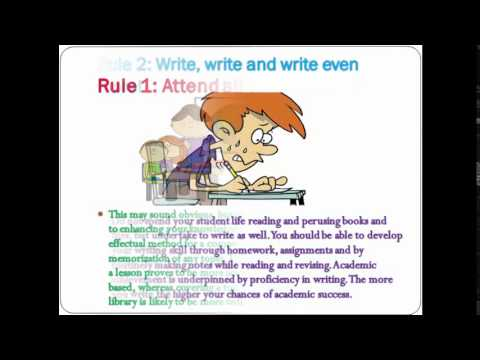 Rules for Success in Academic Examinations
