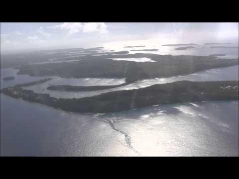 Flying into Vava'u Tonga