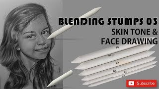 How to Use Blending Stumps 03 - Face and skin Drawing By Chami