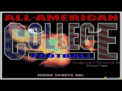 All-American College Football gameplay (PC Game, 1991)