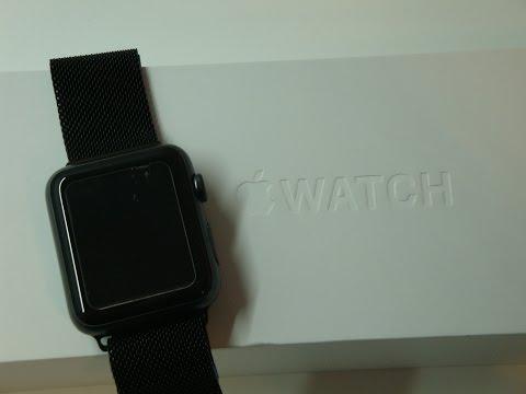 Apple Watch Armband Milanaise  Edelstahl Space Schwarz