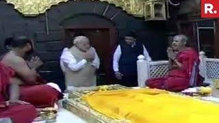 PM Narendra Modi Offers Prayers At Shri Saibaba Temple In Shirdi