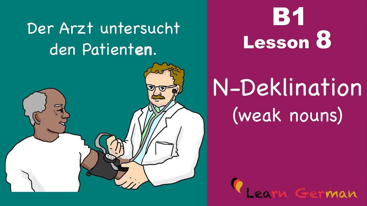 Learn German Intermediate N Deklination Weak Nouns B1 Lesson