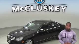 R99419NC Used 2009 Mercedes-Benz C-Class C 300 RWD 4D Sedan Black Test Drive, Review, For Sale -