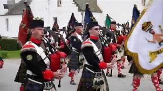 2017 Atholl highlanders parade at Blair Castle in Perthshire, Scotland - Film by Braemar Media
