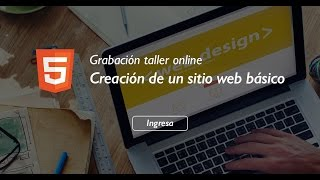 Taller creación de un sitio web con HTML, CSS y jQuery